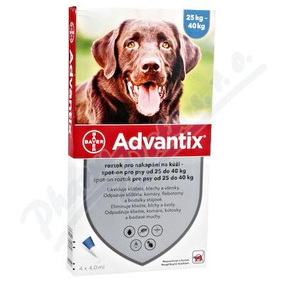 Advantix pro psy nad 25kg spot-on a.u.v.4x4ml